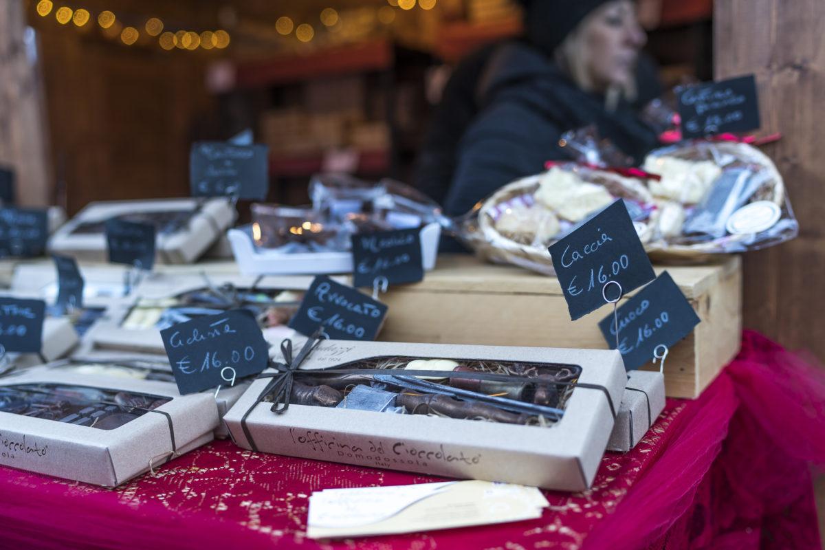 Schokolade Weihnachtsmarkt