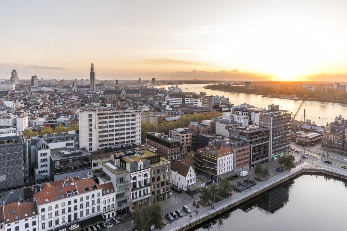 Sonnenuntergang Antwerpen