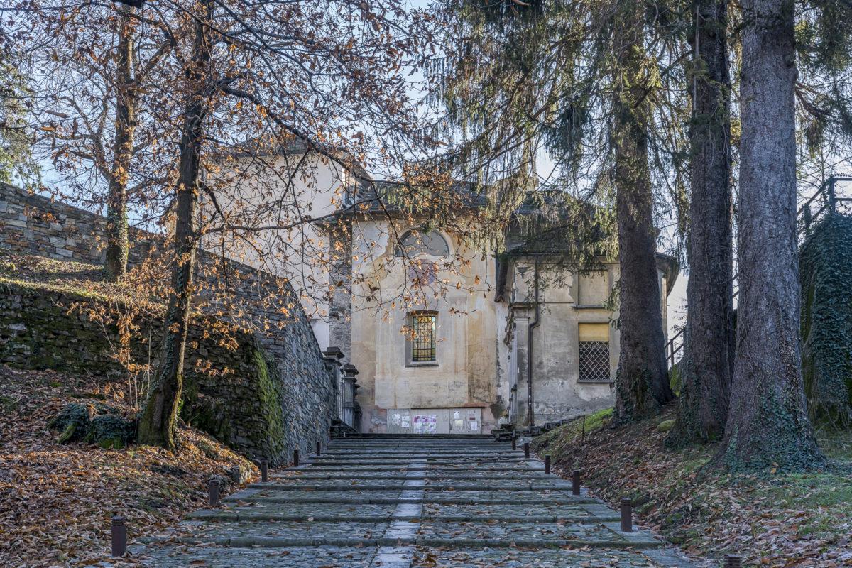Weg zum Sacro Monte