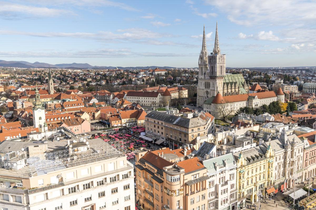 Zagreb 360 Ausblick
