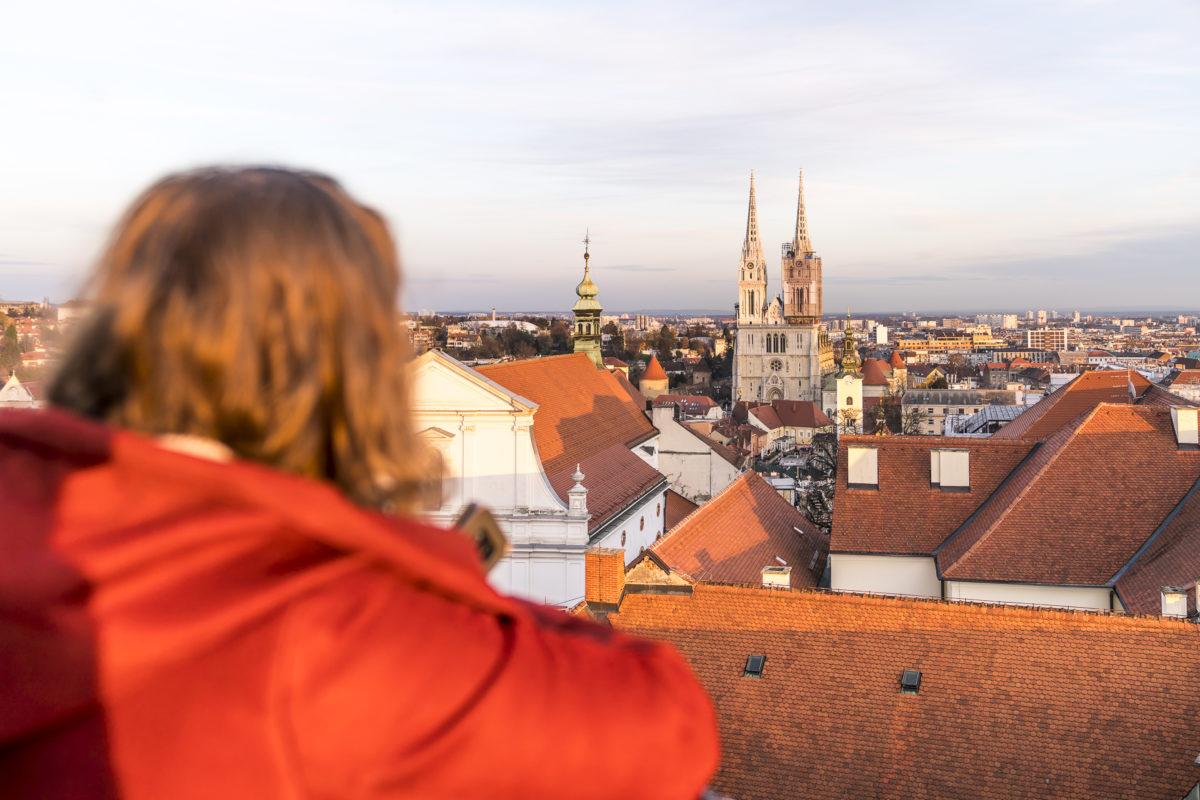 Aussicht vom Lotrscak Turm