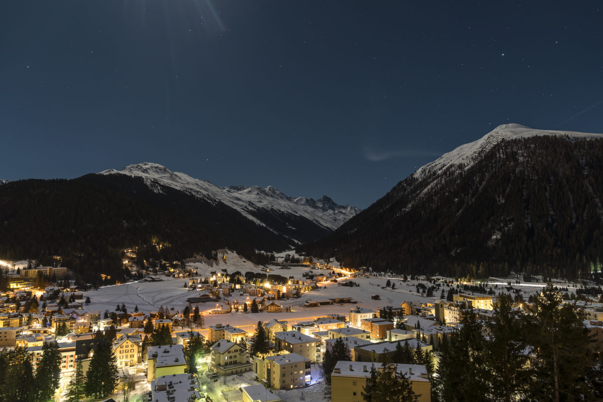 Davos by night