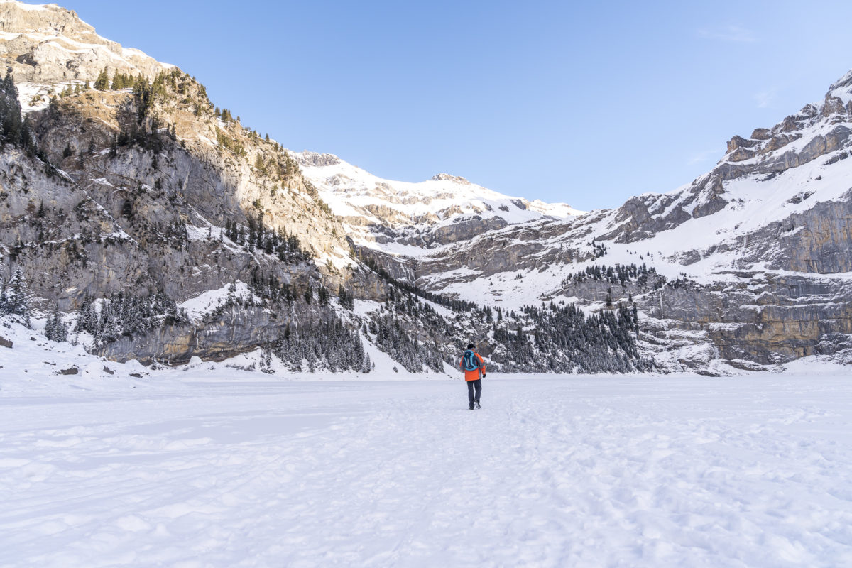 Ice Walk Oeschinensee Winter