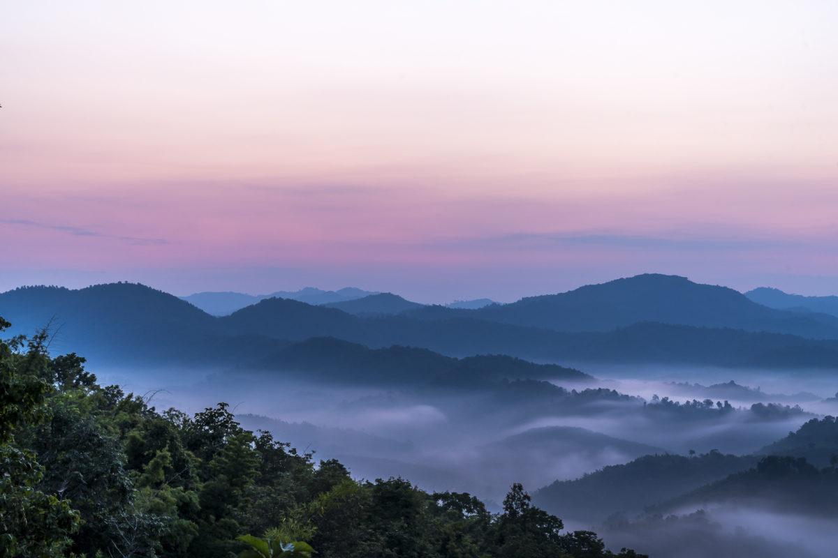 Nordthailand Sonnenaufgang