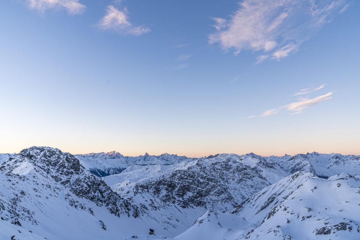Parsenn Davos Morgenstimmung