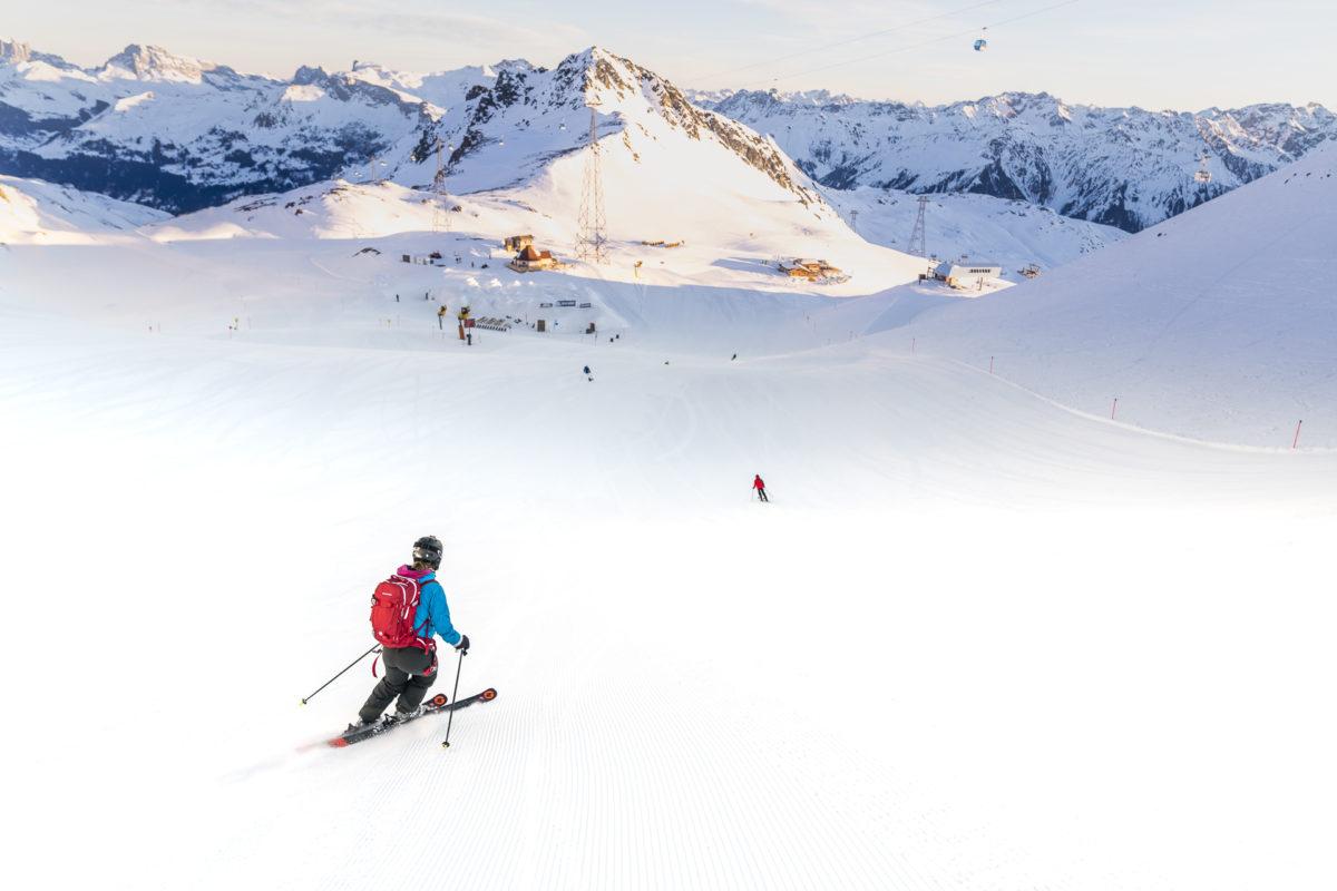 Skifahren Davos Parsenn