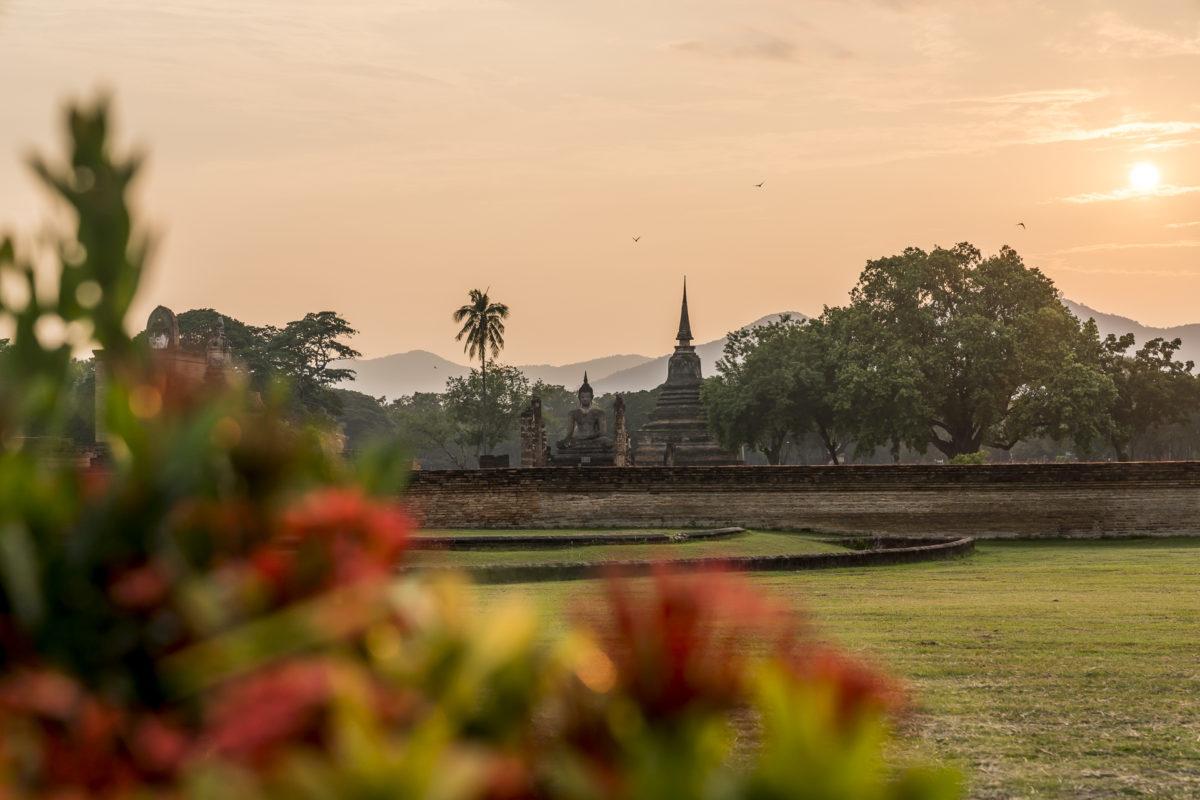 Sonnenuntergang Sukhothai Historical Park