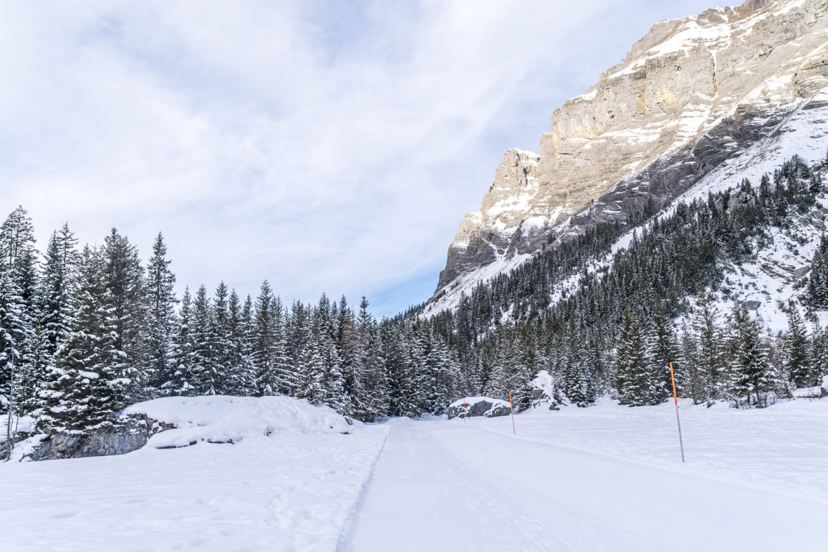 Winterwanderweg Lägern Oeschinensee