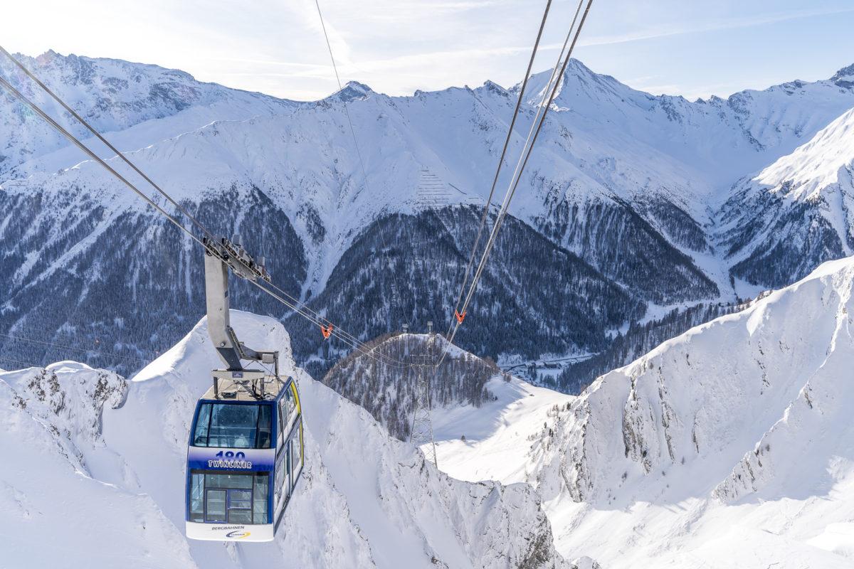 Gondel Samnaun Alp Trida
