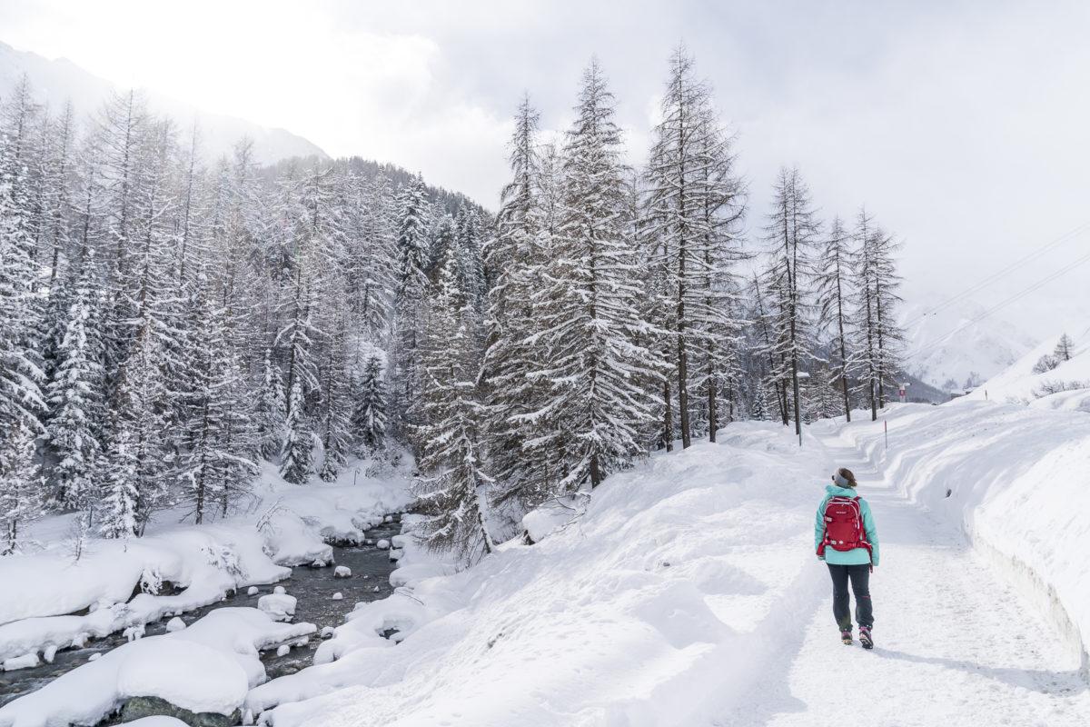 Samnaun Winterwandern Neuschnee