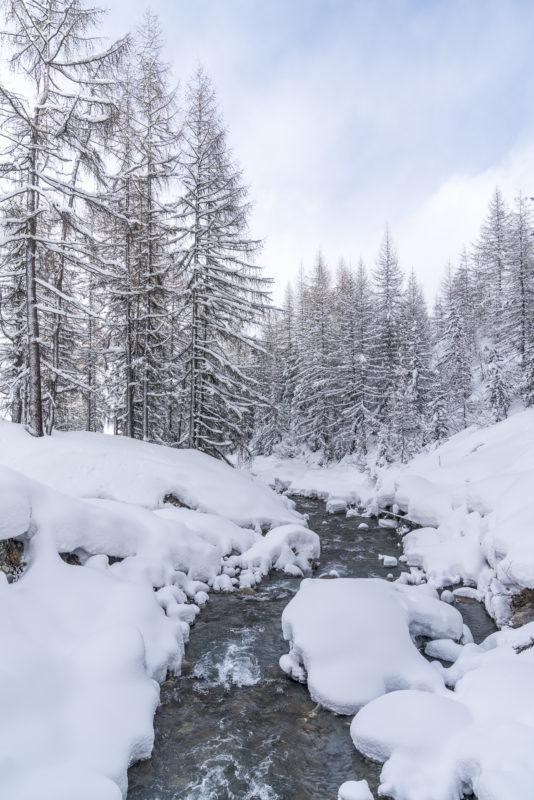 Samnaun verschneit