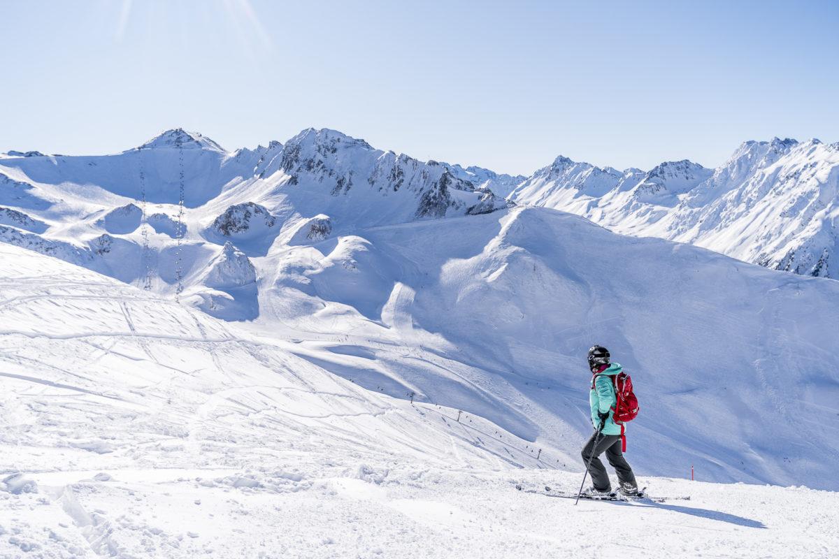 Skifahren in Samnaun