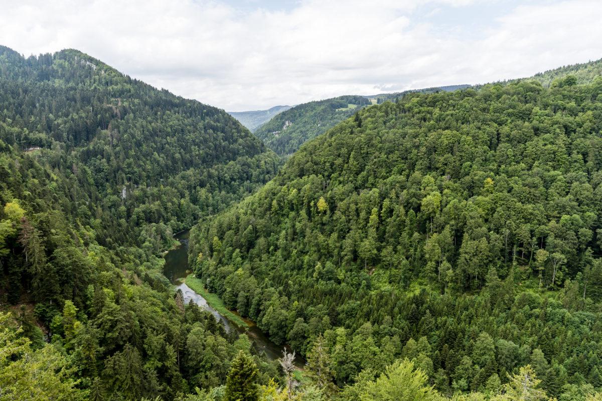 Aussicht Naturpark Doubs