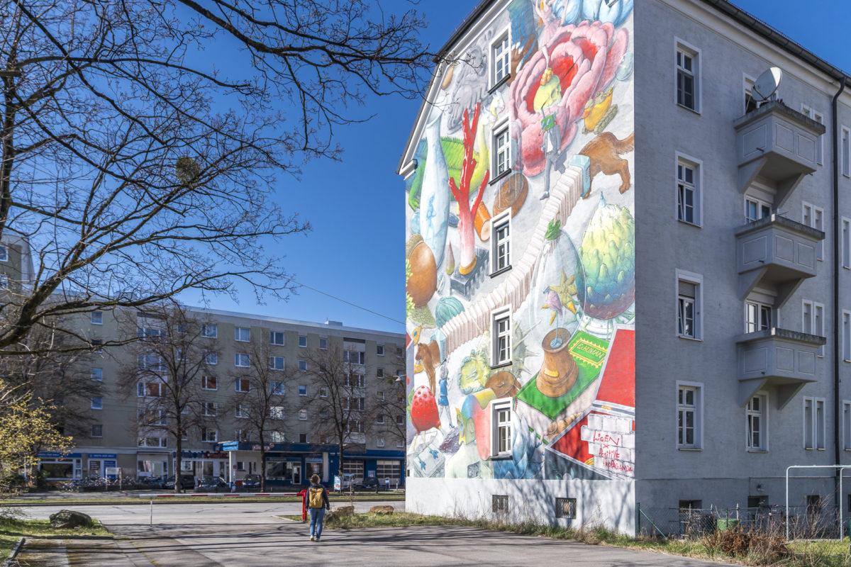 Bunte Fassaden München