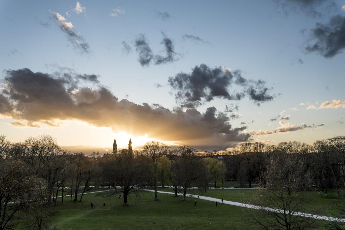 Englischer Garten München Sonnenuntergang