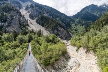 Albinenleitern - Bhutanbrücke - Pfynwald: abenteuerliche Wandertage im Wallis