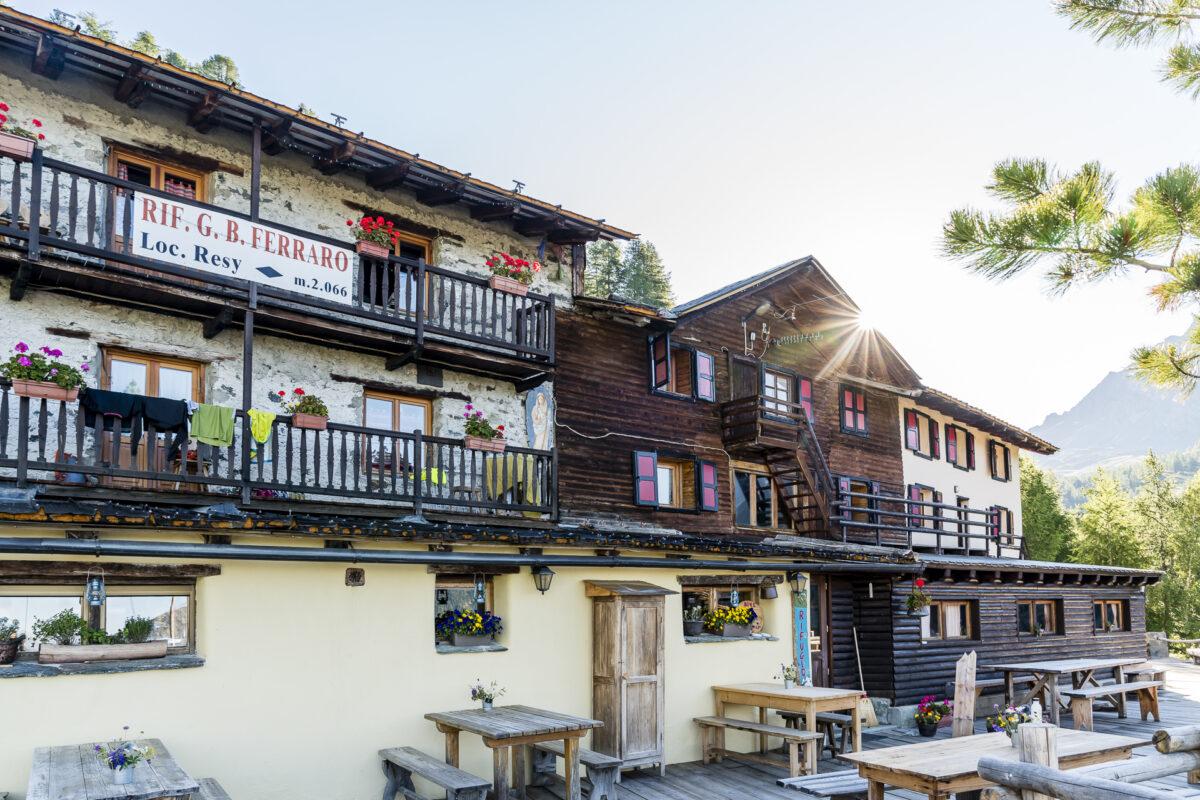 Rifugio Ferraro Hütte im Aostatal