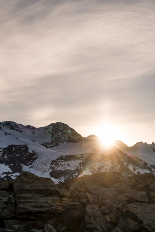 Sonnenaufgang Breithorn