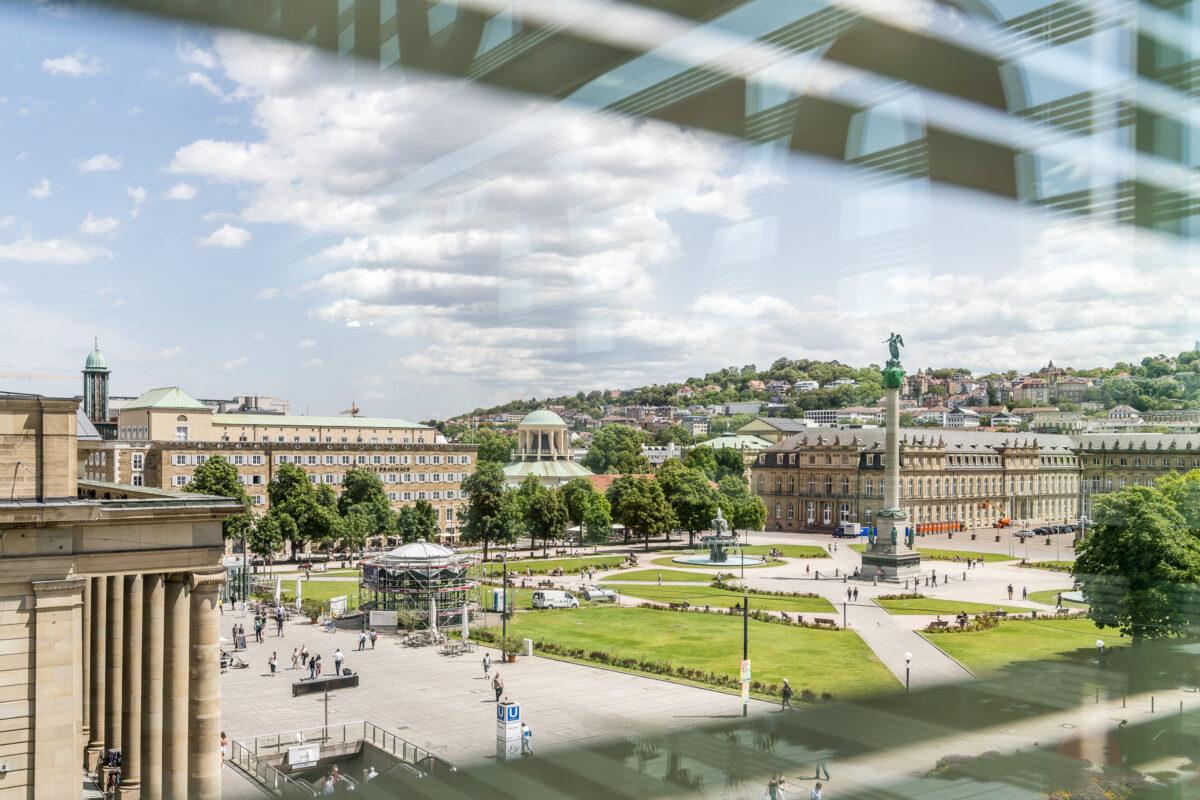 Aussicht Kunstmuseum Stuttgart