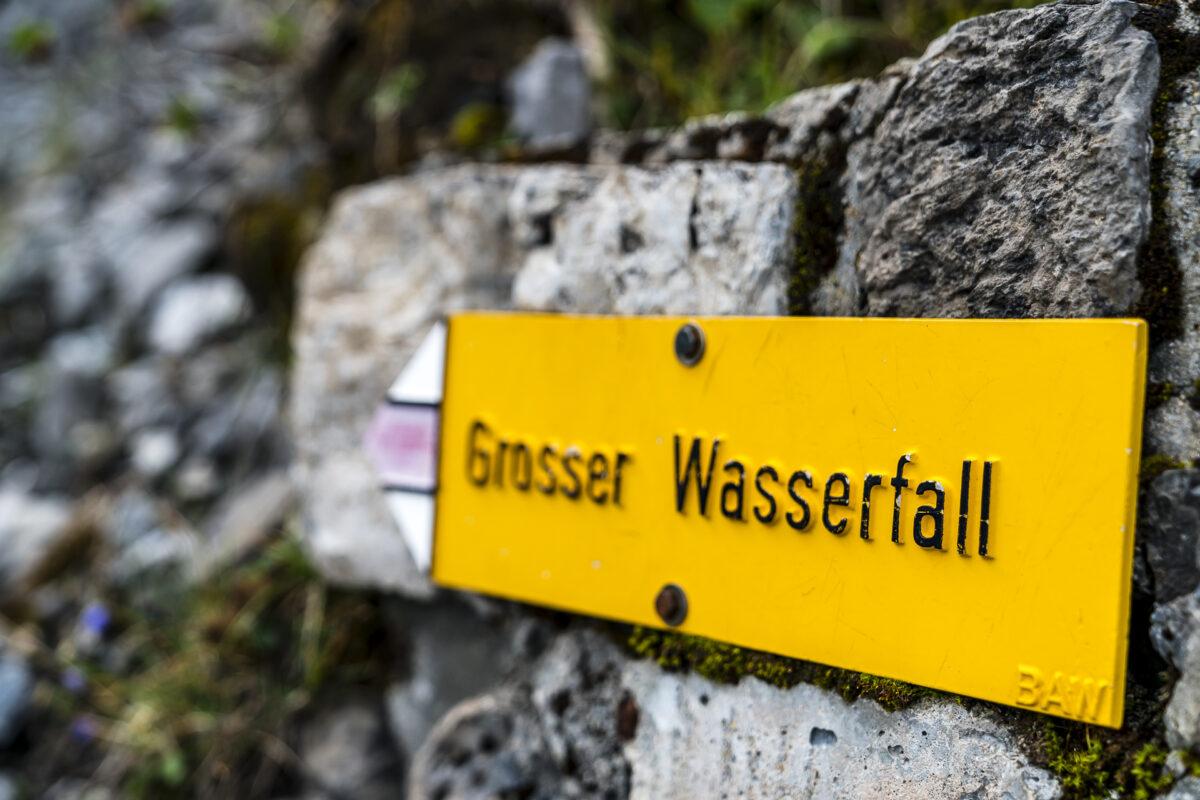 Grosser Wasserfall Arosa