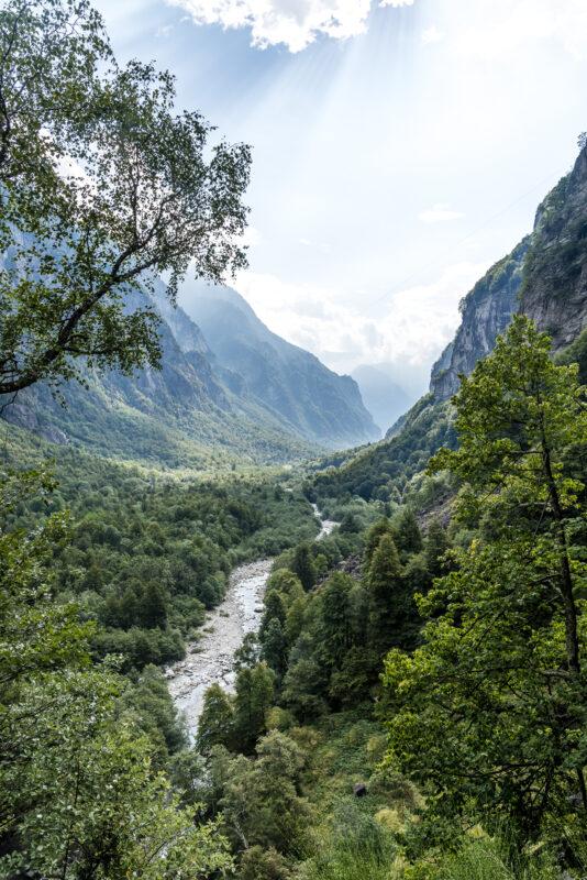 Foroglio Aussichtspunkt Wasserfall