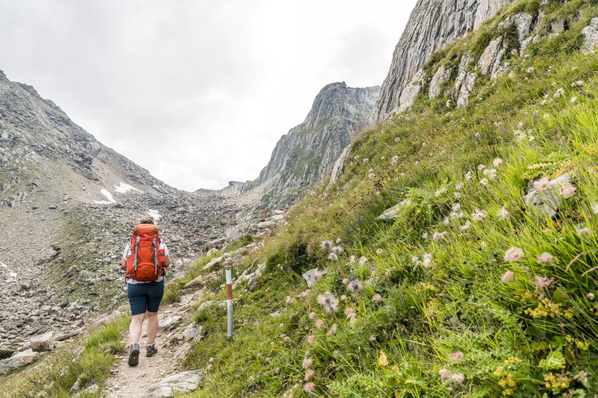 Aufstieg zur Capanna Cristallina