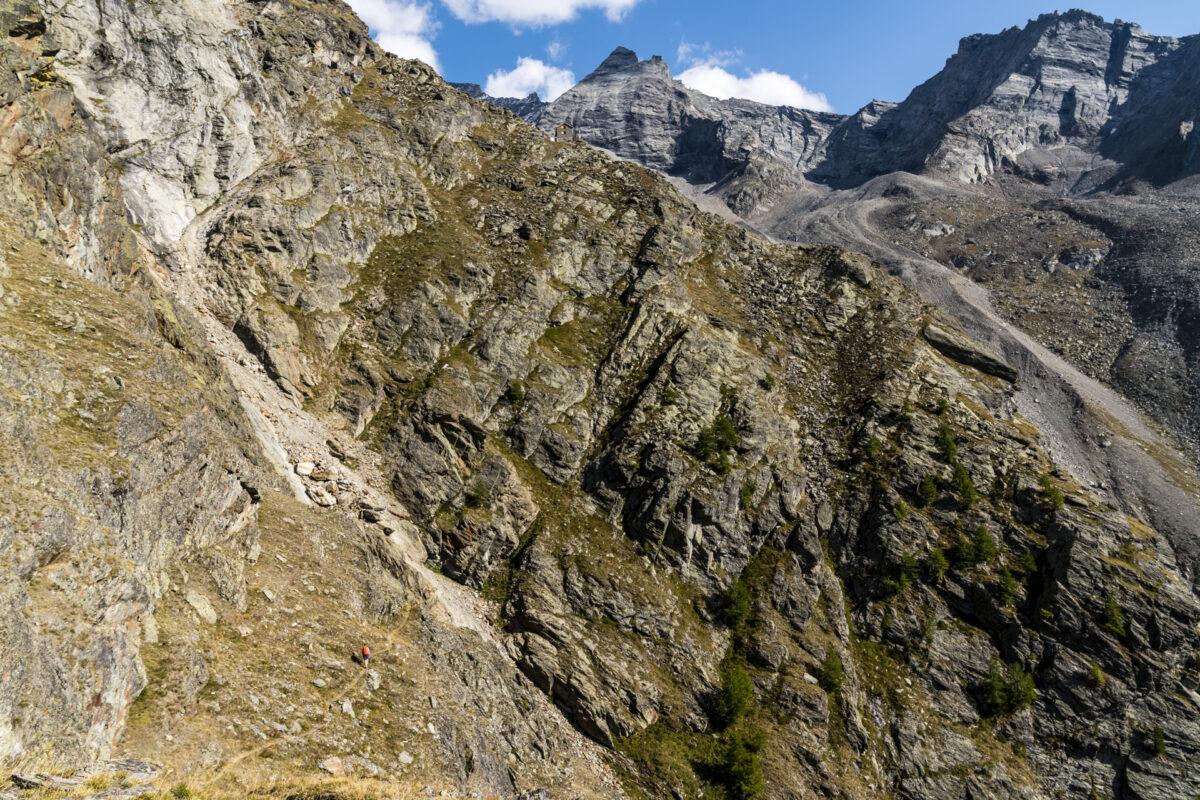 Aufstieg zur Kinhütte bei Zermatt