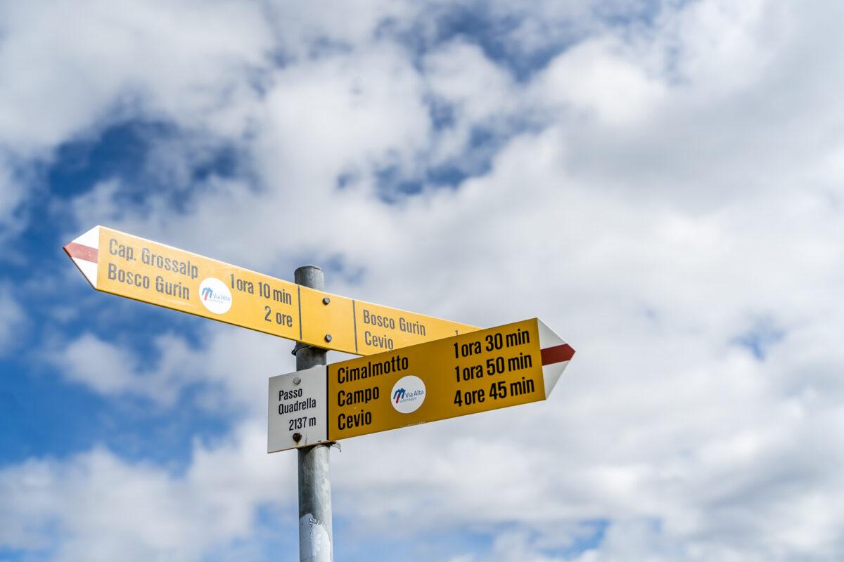 Passo Quadrello Wanderung
