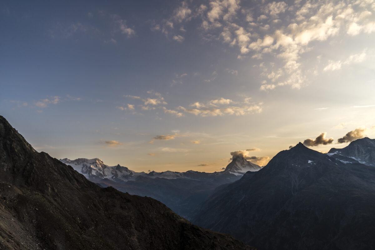 Abendstimmung Zermatt Matterhorn
