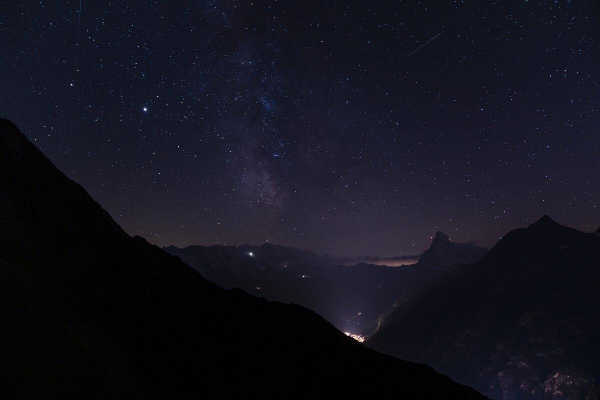 Sternenhimmel über Zermatt