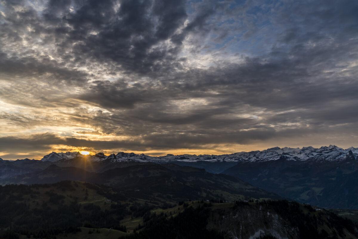 Sonnenaufgang Mythen