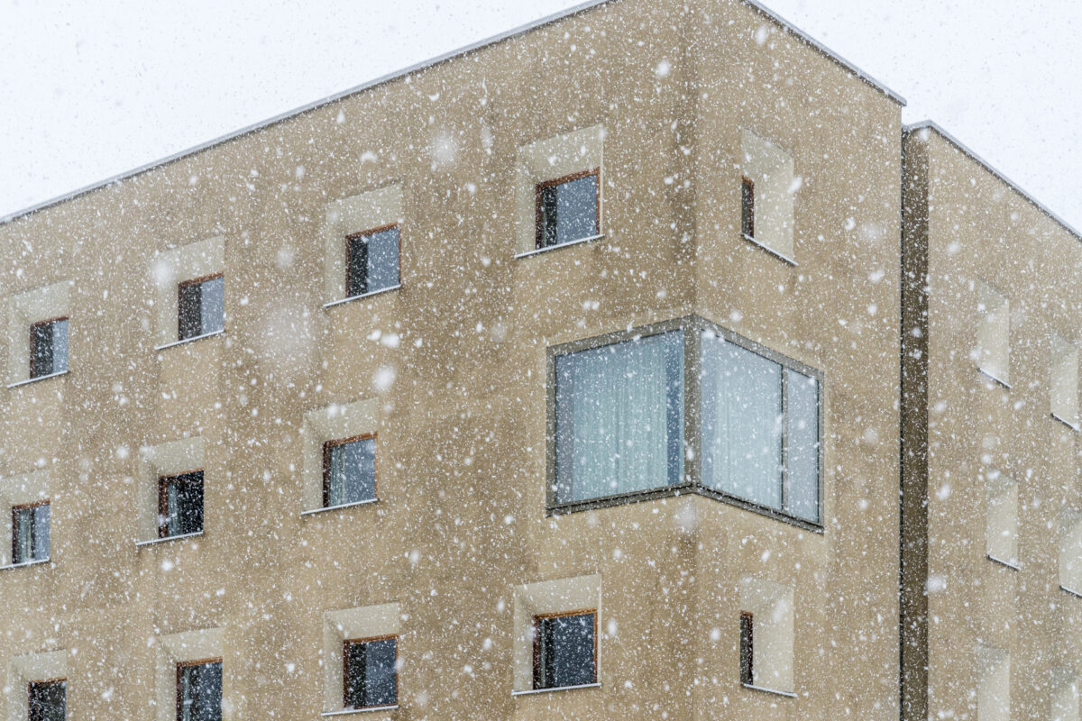 Detailaufnahme Architektur Jugi Scuol
