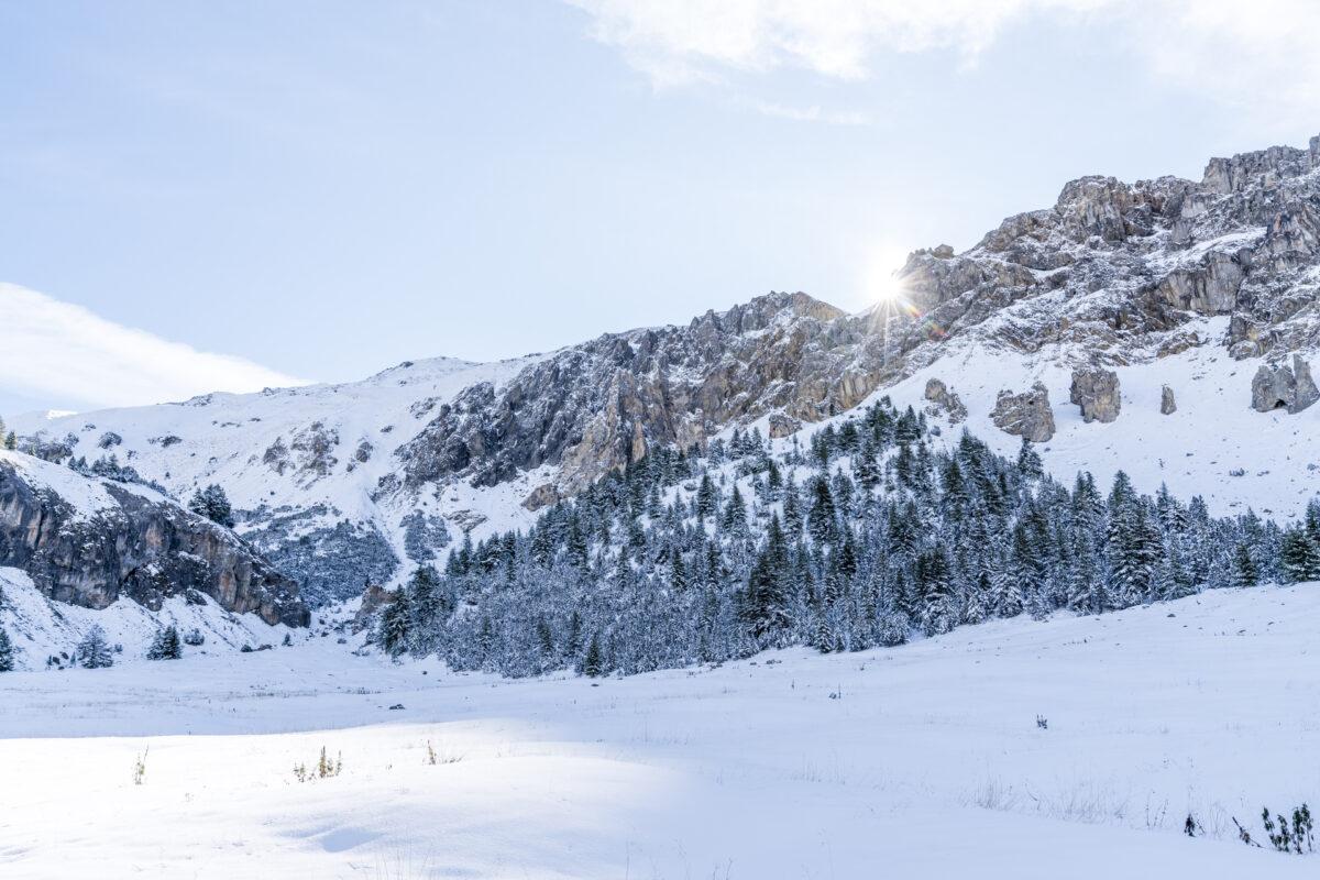 Winterlandschaft bei Lü