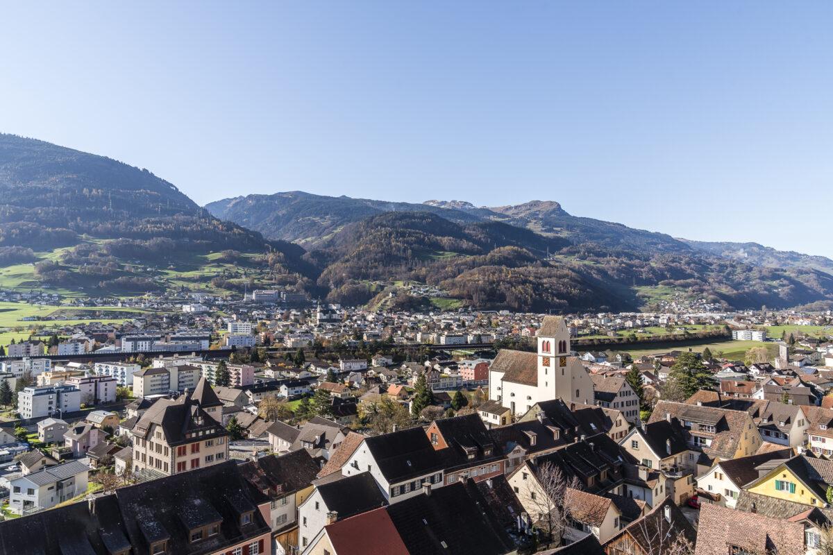 Panorama vom Schloss Sargans