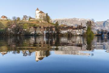 Von Werdenberg nach Sargans - auf dem Schlossweg durchs Rheintal