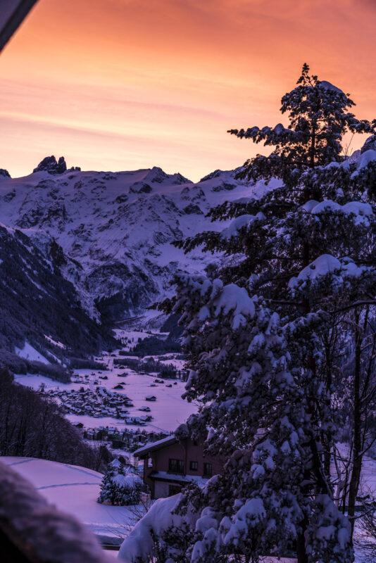 Sonnenaufgang in Engelberg