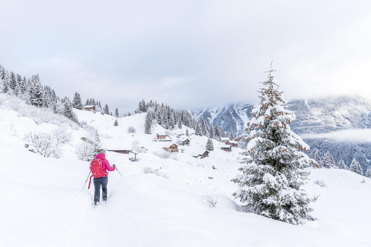 Schneeschuhwanderung Arnisee Trail