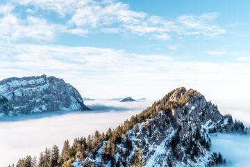 Hirzli - Planggenstock: fantastische Gratwanderung über dem Nebelmeer