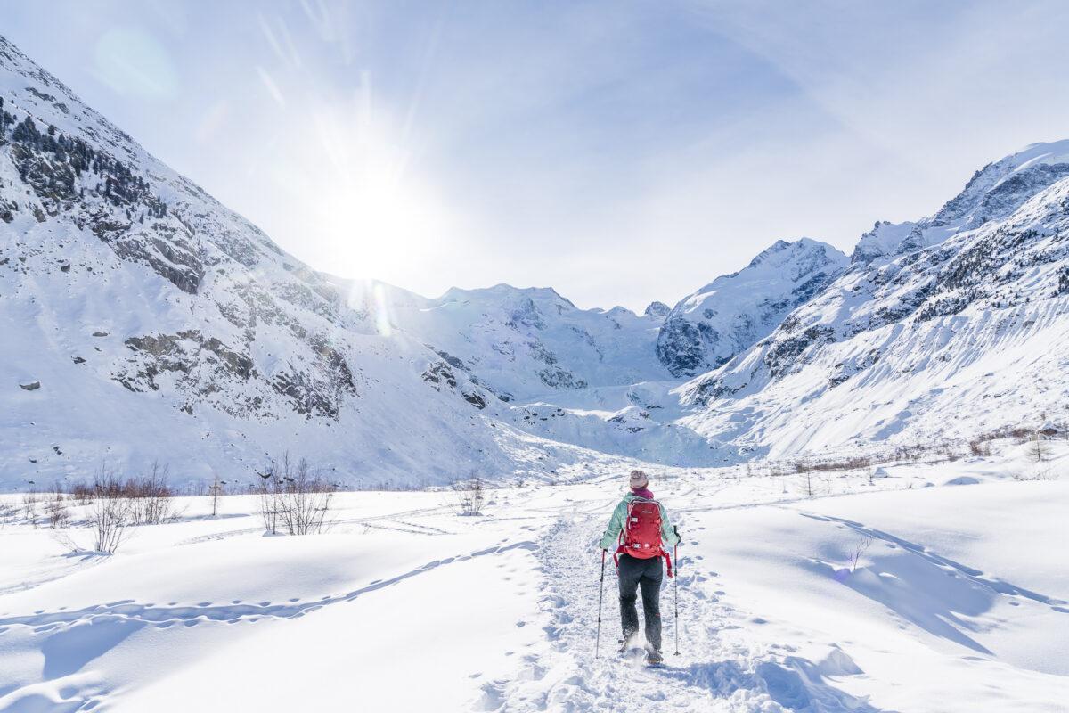 Engadin Morteratsch Schneeschuhwandern