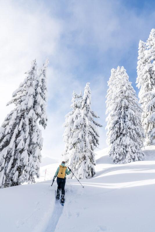 Aufstieg zur Banegg mit Schneeschuhen