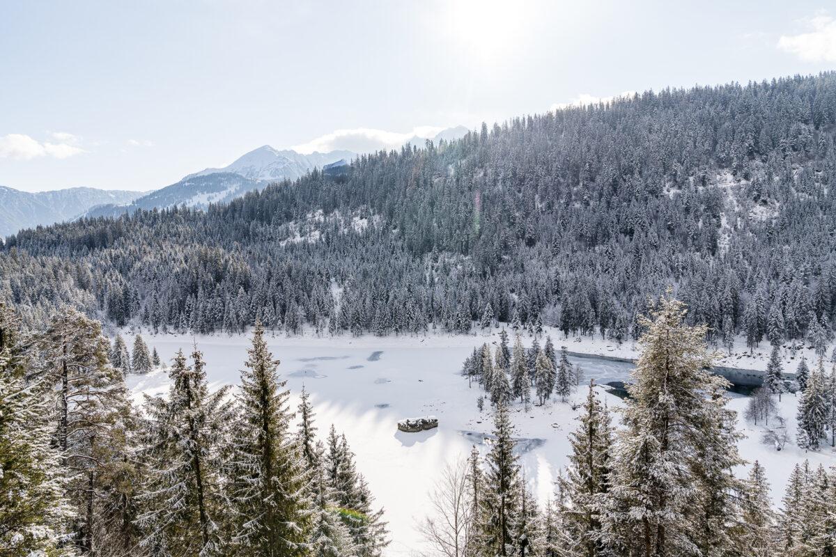 Caumasee im Winter