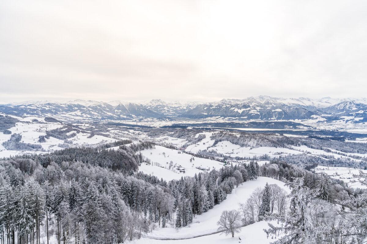 Aussichtsturm Bachtel im Winter