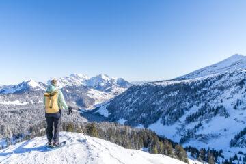 Flügespitz: aussichtsreicher Schneeschuhgipfel bei Amden-Arvenbüel