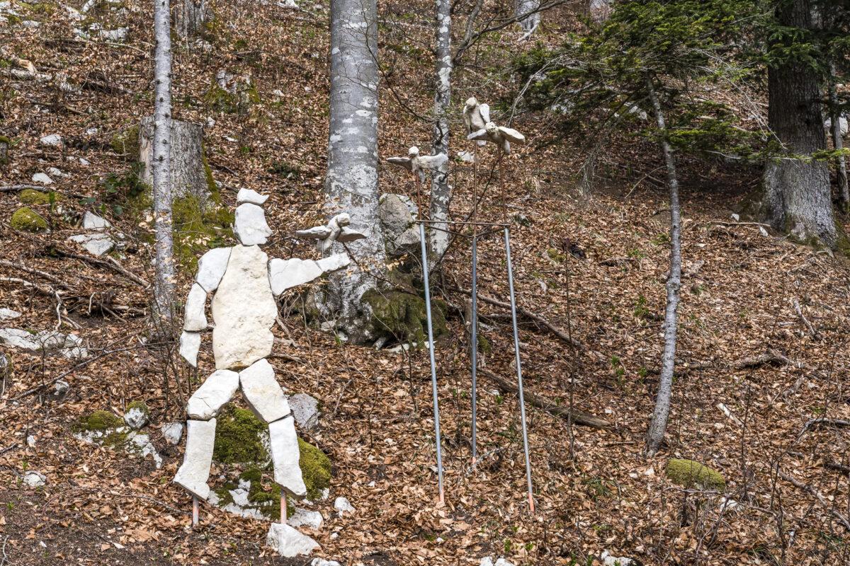 Skulptur am Mont Sujet