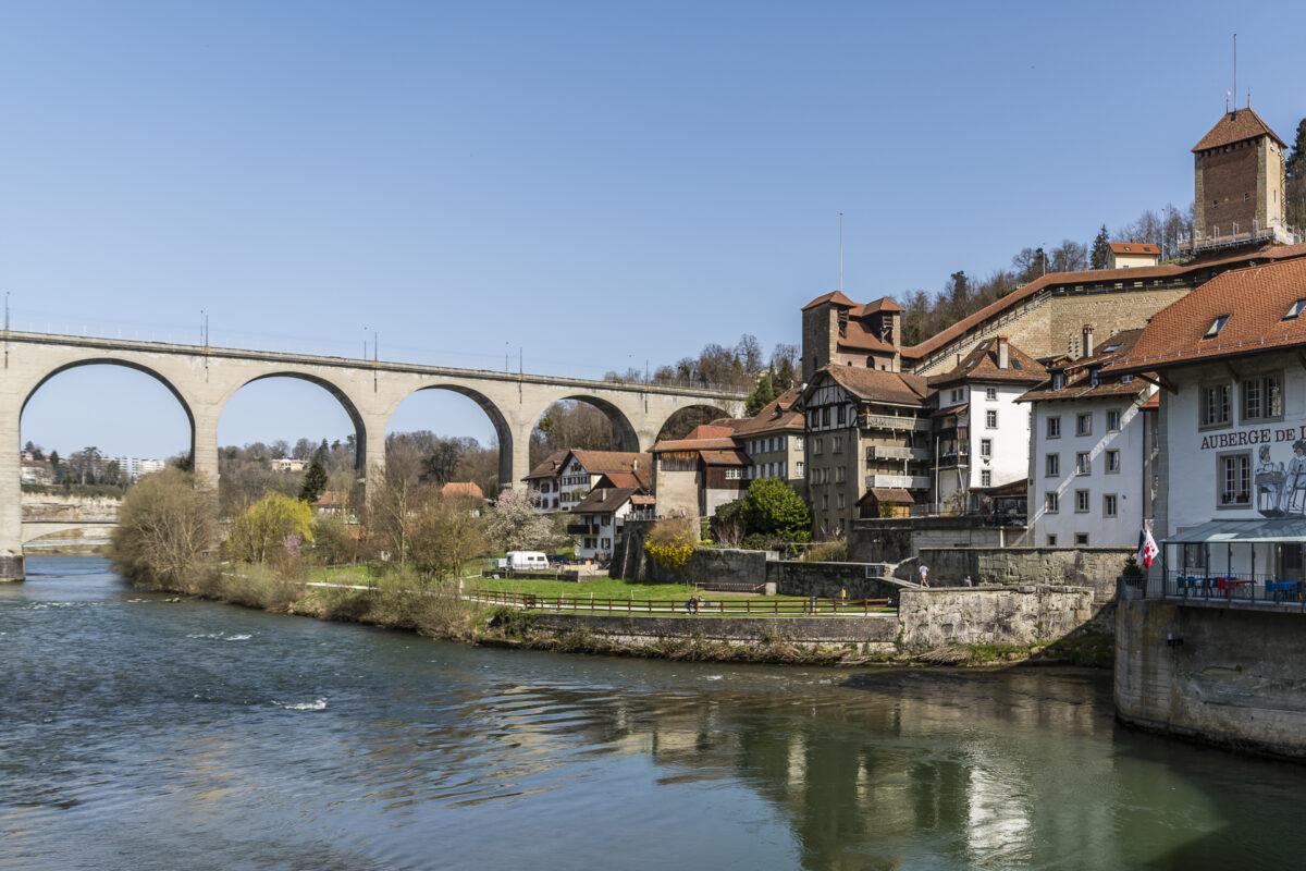 Fribourg Unterstadt Brücke