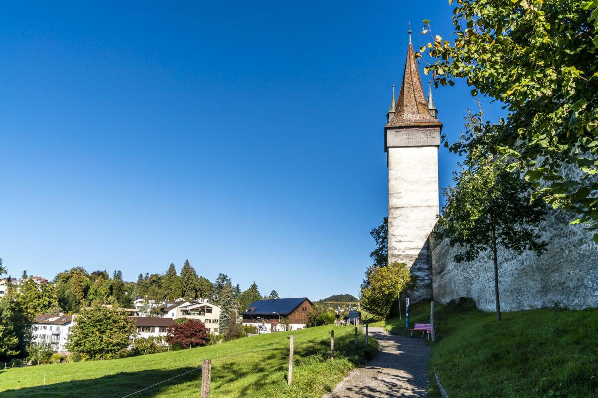 Spaziergang Museggmauer Luzern