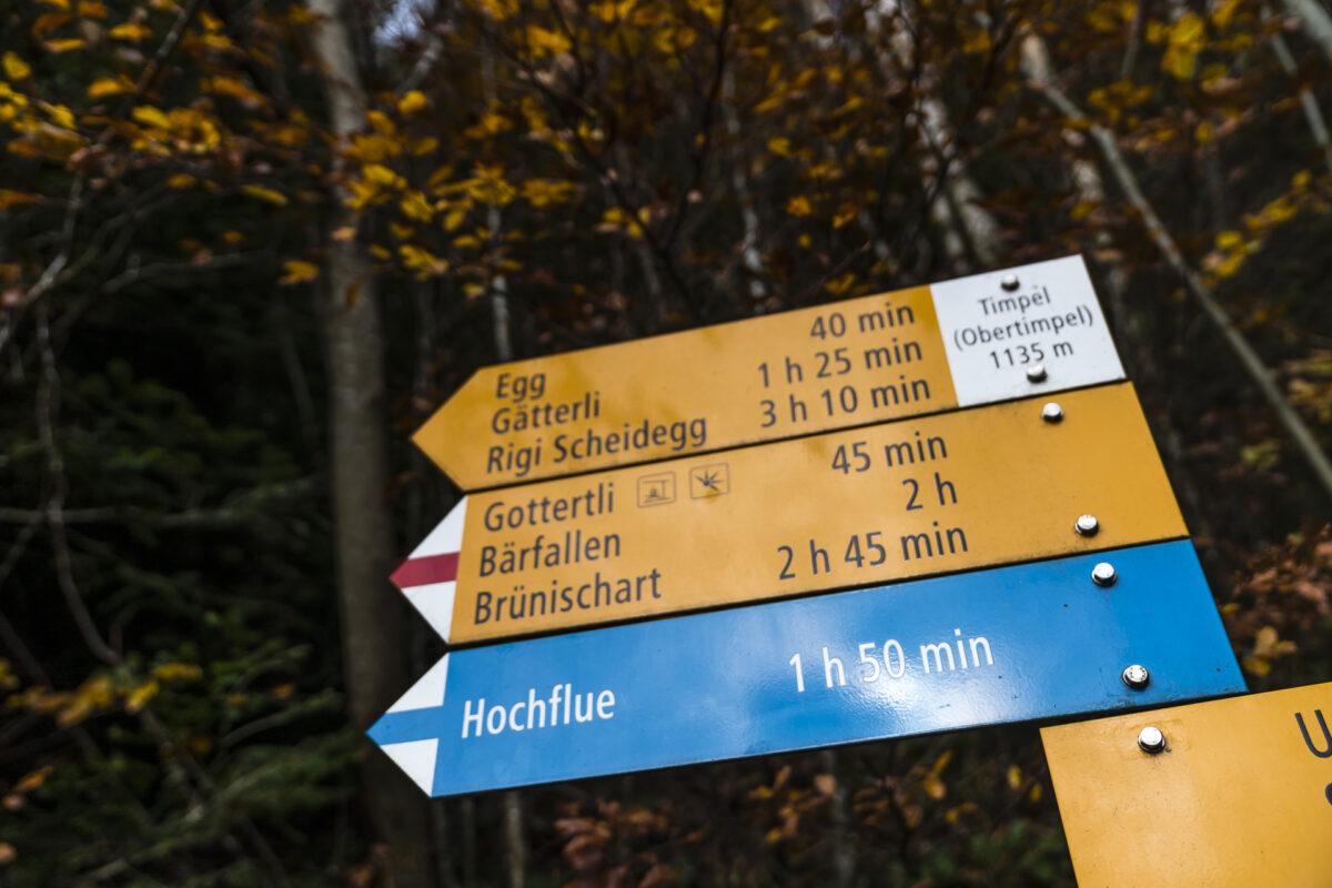 Wanderung Timpel Rigi Hochflue