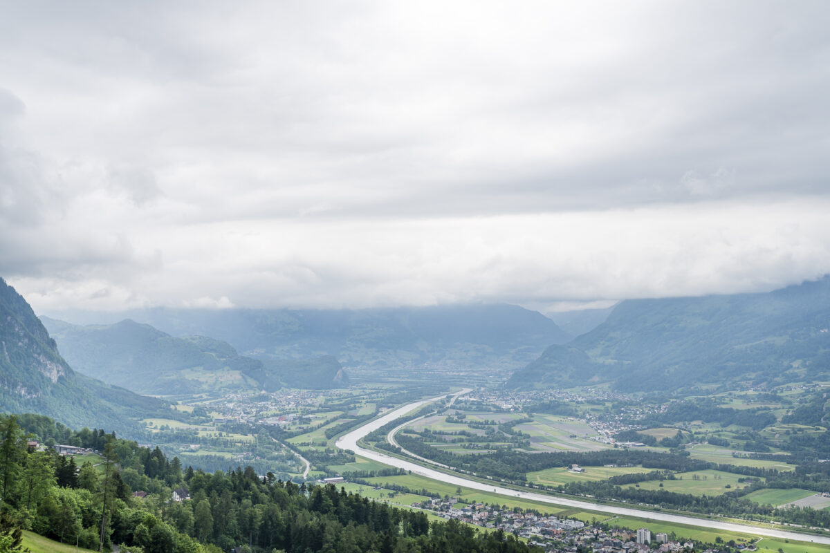 Aussicht Triesenberg Liechtenstein