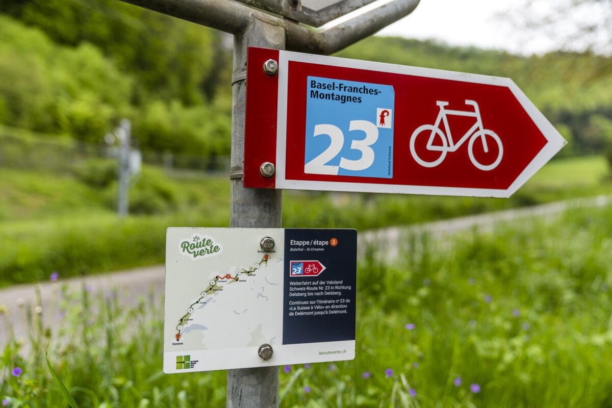 Wegweiser Route Verte