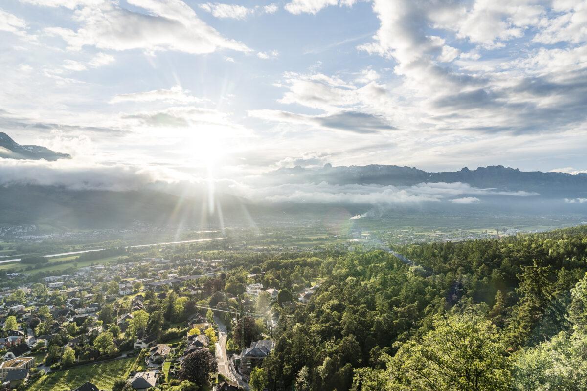 Aussicht Walderlebnispfad Vaduz